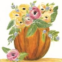 Pumpkin Full of Roses Framed Print