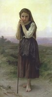 A Little Shepherdess, 1891 Fine Art Print