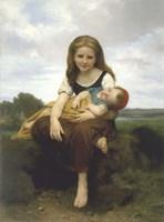 The Elder Sister (La Soeur Ainee) Fine Art Print