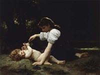 Young Woman and Child, 1881 Fine Art Print