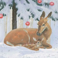 Christmas Critters Bright VIII Fine Art Print