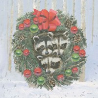 Christmas Critters Bright VI Fine Art Print