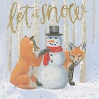 Christmas Critters Bright III Fine Art Print