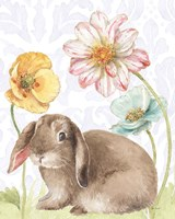 Spring Softies Bunnies III Purple Fine Art Print