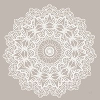 Contemporary Lace Neutral VI Framed Print