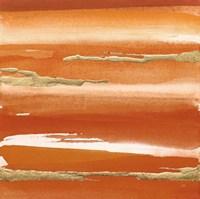 Gilded Mandarin III Burnt Orange Fine Art Print