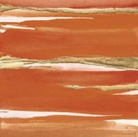 Gilded Mandarin I Burnt Orange Framed Print