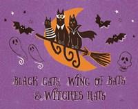 Spooktacular I Black Cats Purple Fine Art Print