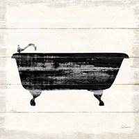 Shiplap Bath I Framed Print