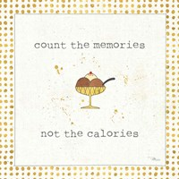 Calorie Cuties VI Dot Border Fine Art Print