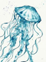 Deep Sea X v2 Teal Fine Art Print