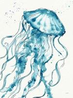 Deep Sea X v2 Teal Fine Art Print