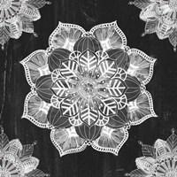 Mandala Morning V BW Framed Print