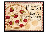 Pizza Fixes Everything Fine Art Print