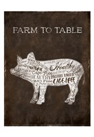 Farm To Table Cow Fine Art Print