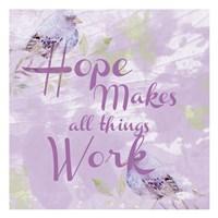 Lavender Faith 1 Fine Art Print