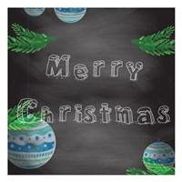 Christmas 2nd Chalk Board Fine Art Print