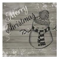 Christmas Black And White Fine Art Print