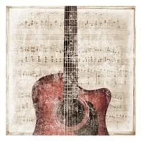 Acoustic Framed Print