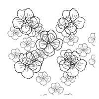 Black Petals Fine Art Print