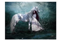 Fairy with Unicorn Fine Art Print
