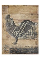 Farm To Table Rooster Fine Art Print