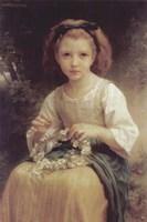 Child Braiding a Crown Fine Art Print