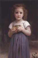 Little Girl Holding Apples in Her Hands Fine Art Print