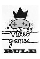 Games Rule Fine Art Print