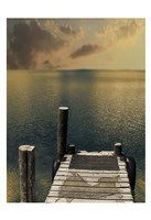 Sunset On The Dock Fine Art Print
