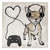 Gaming Chihuahua Fine Art Print