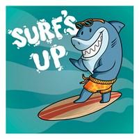 Surf Shark Dude Fine Art Print