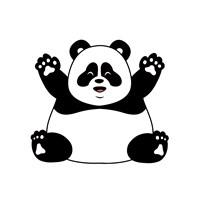 Chubby Panda Fine Art Print