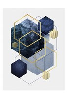 Navy Gold Geo 2 Fine Art Print