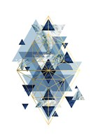 Navy Gold   Geometric Fine Art Print
