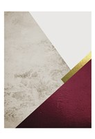 Beige Burgundy Mountains 1 Fine Art Print