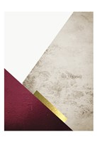 Beige Burgundy Mountains 3 Fine Art Print