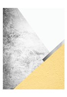 Yellow and Grey Mountains 1 Fine Art Print