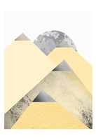 Yellow and Grey Mountains 2 Fine Art Print