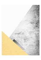 Yellow and Grey Mountains 3 Fine Art Print