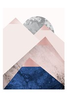 PinkNavy Mountains 2 Fine Art Print