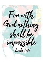 With God Fine Art Print