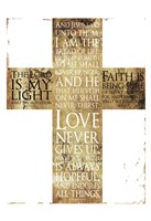 Text Gold Cross Fine Art Print