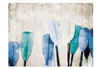 Paddles Against The Wall Fine Art Print