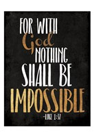 Be Impossible Fine Art Print