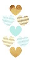 Crossed Heart Teal Fine Art Print