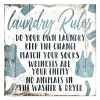 Laundry Rules Laundry Fine Art Print