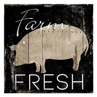 Farm Fresh Pig Fine Art Print
