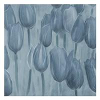 Tulips Patch Blues Fine Art Print