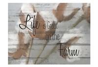 On the Farm A Fine Art Print